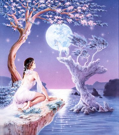 belle-image-femme-licorne-paysage-flora