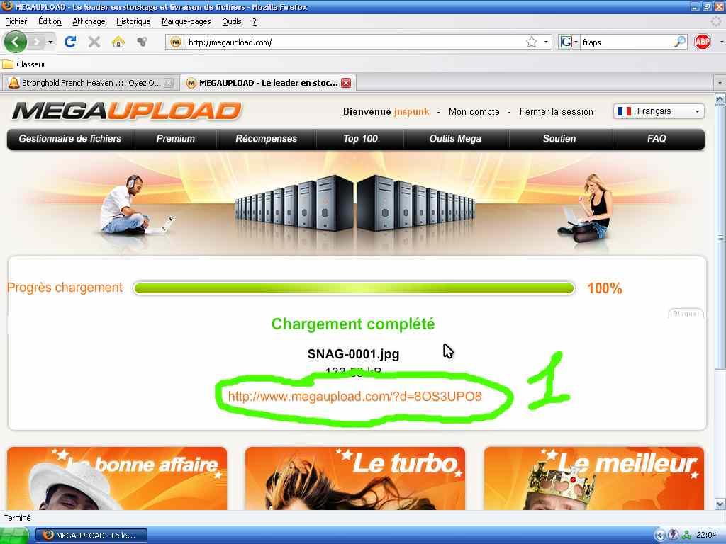 Comment Uploader sur Megaupload 2-cb1146